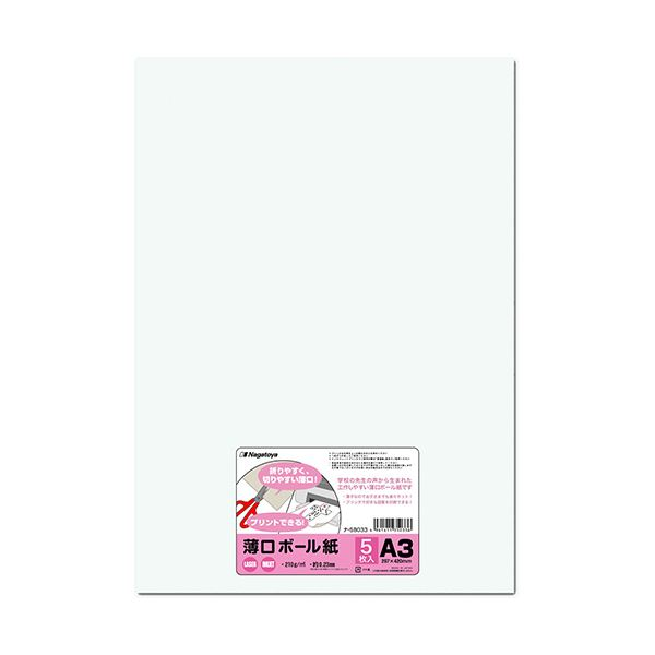 (まとめ) 長門屋商店 薄口ボール紙 A3ナ-SB033 1パック(5枚) 【×50セット】
