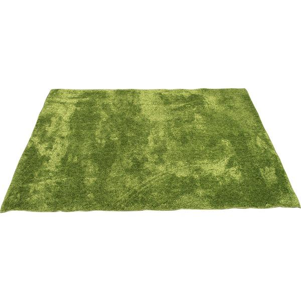 カーペット ラグ 敷物 室内 芝生ラグ 190×190cm グリーン オーシャン 九装 緑