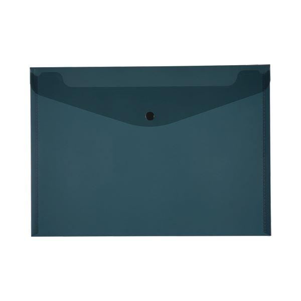 (まとめ)TANOSEE エンベロープ A4ヨコ ブラック 1パック(4枚)【×20セット】 黒