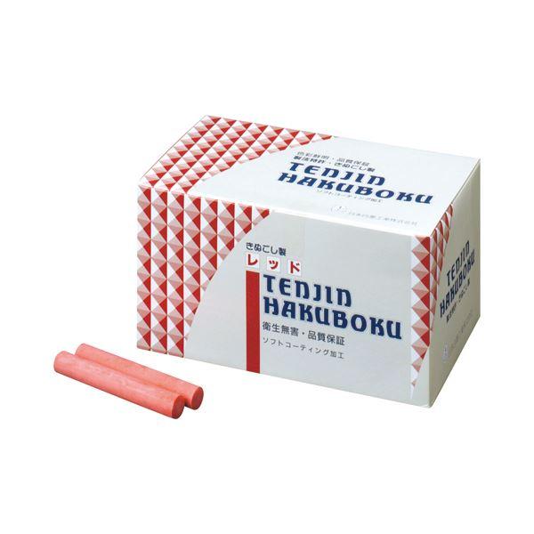 (まとめ) 日本白墨 天神印チョーク(石膏カルシウム製) 赤 CH-2 1箱(100本) 【×10セット】