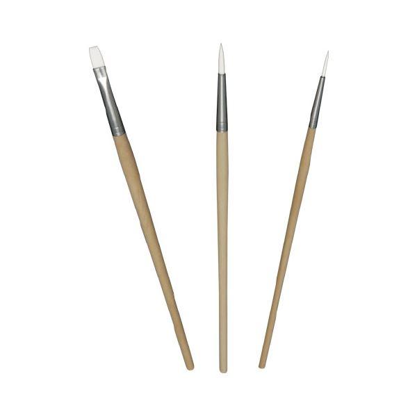 (まとめ)なめらか画筆 3本セット【×30セット】