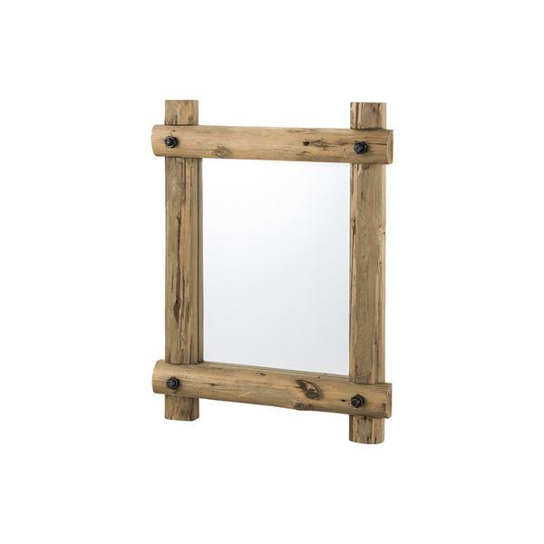 姿見鏡/ウォールミラー 【幅59cm】 木製 ラッカー塗装 4mm飛散防止ミラー 〔ベッドルーム 寝室 玄関 リビング〕