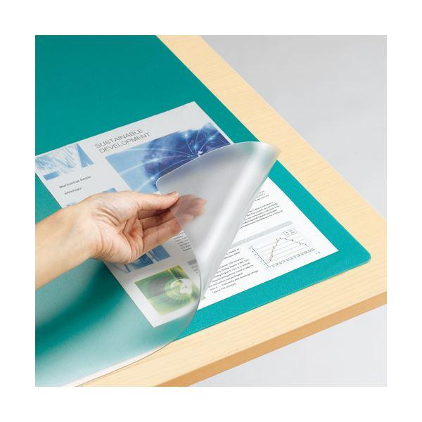 (まとめ) TANOSEE デスク (テーブル 机) マット(光学式マウス対応) ダブル(下敷付) 600×450mm 1枚 【×10セット】