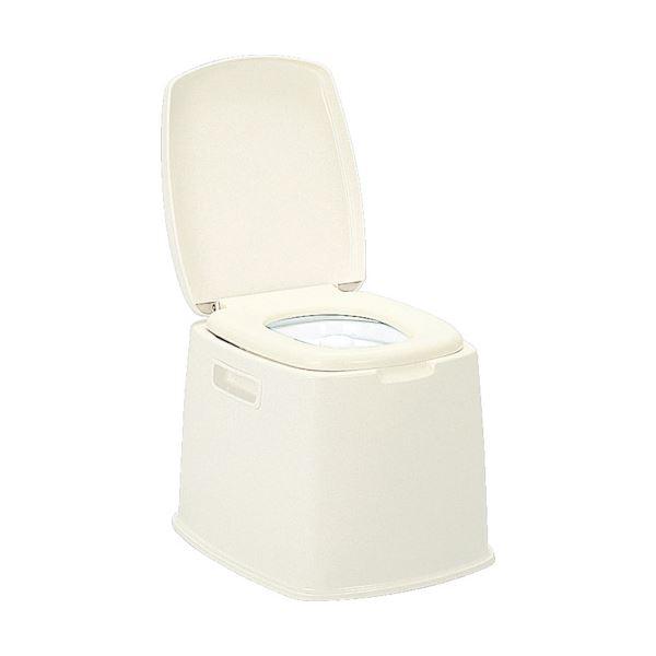 スタンダードなポータブルトイレです ※ラッピング ※ 新輝合成 送料無料新品 1台 ポータブルトイレS型07427
