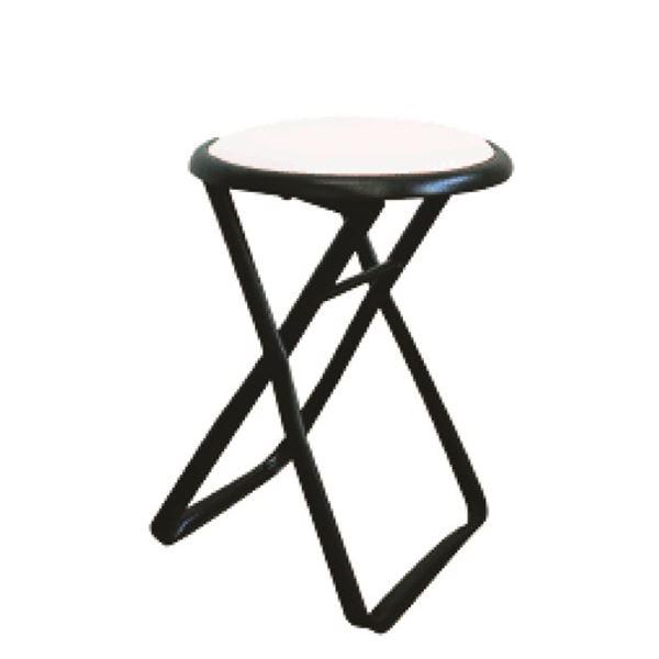 折りたたみ椅子 (イス チェア) 【6脚セット ホワイト×ブラック】 幅32cm 日本製 国産 金属 スチール パイプ 『キャプテンチェア (イス 椅子) 』 白 黒