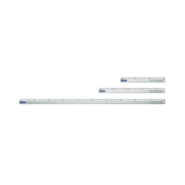 (まとめ) ライオン事務器 アルミカッティング定規45cm AL-45 1本 【×10セット】