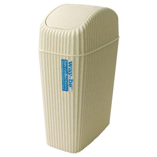 (まとめ)ゴミ箱 4L ウェイビー WB12-304 アイボリー ( ダストボックス くずかご ) 【24個セット】 乳白色