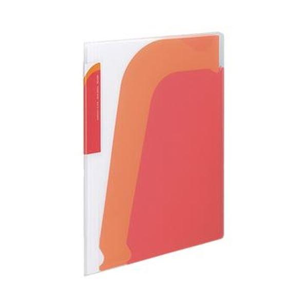スッと入れて サッと取り出せるから 書類の出し入れが簡単 背幅も変えられるポケットブック まとめ コクヨ ポケットブック ノビータ 10冊 赤 お得 当店限定販売 ×3セット 1セット A4タテ レッド ラ-N210R