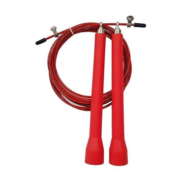 トレーニング用 縄跳び/なわとび 【レッド 50本セット】 ロープ3m グリップ18cm 『重さが跳びを加速させるスピードロープ』 赤