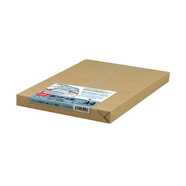 (まとめ) 長門屋商店 ドット入薄口ボール紙 A4ナ-DB154 1パック(100枚) 【×5セット】