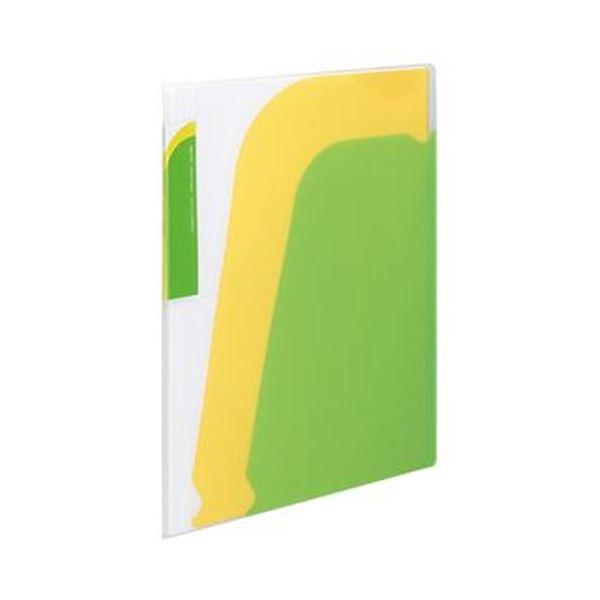 入れる枚数によって背幅が伸縮 スッキリ収納で便利 まとめ コクヨ ポケットブック ノビータ A4タテ ×3セット 緑 ライトグリーン 10冊 1セット ラ-N210LG 在庫一掃売り切りセール 誕生日プレゼント