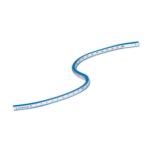 (まとめ) ステッドラー マルス 自在曲線定規目盛付 30cm 軟質アルミ芯 971 65-30 1個 【×10セット】