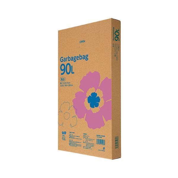 TANOSEE ゴミ袋エコノミー乳白半透明 90L BOXタイプ 1セット(550枚:110枚×5箱)