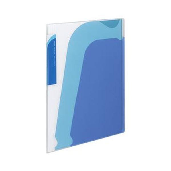 スッと入れて サッと取り出せるから 書類の出し入れが簡単 背幅も変えられるポケットブック まとめ コクヨ ポケットブック ノビータ ラ-N210B 1セット トラスト A4タテ 正規品 10冊 青 ブルー ×3セット