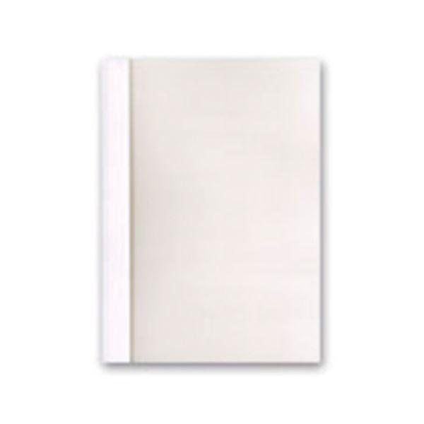 ジャパンインターナショナルコマースとじ太くん専用契約書カバー A4タテ 背幅1.5mm クリアホワイト 1セット(50冊:10冊×5パック) 白