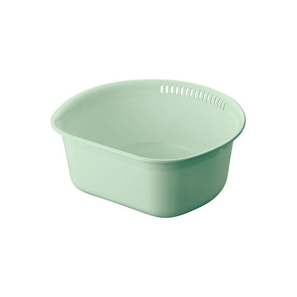 (まとめ) 洗い桶/ウォッシュタブ 【35型】 抗菌 清潔 仕様 プラスチック製 グリーン キッチン 台所 用品 『Nポゼ』 【40個セット】 緑