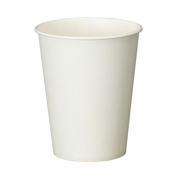 (まとめ) TANOSEE 紙コップ ホワイト 275ml(9オンス) 1セット(500個:100個×5パック) 【×5セット】 白