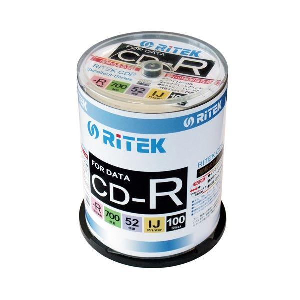 (まとめ)Ri-JAPAN データ用CD-R 100枚 CD-R700WPX100CK C【×10セット】