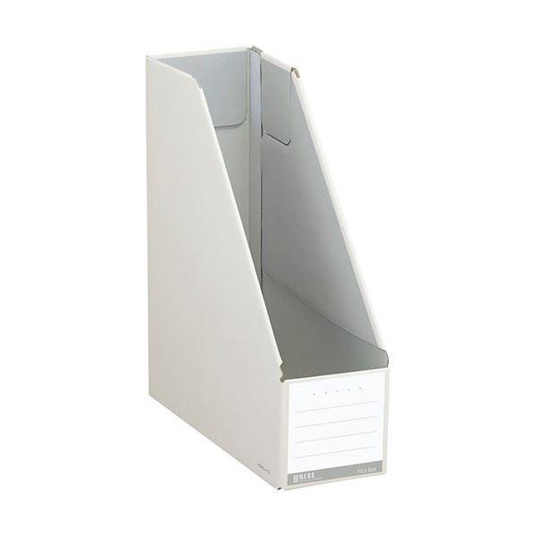 (まとめ)コクヨ ファイルボックス(NEOS)スタンドタイプ A4タテ 背幅102mm オフホワイト フ-NEL450W 1セット(10冊) 【×3セット】