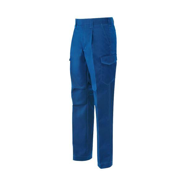 ワンタックカーゴパンツ 制電ソフトツイル ブルー ウエスト76cm 【×10セット】 青