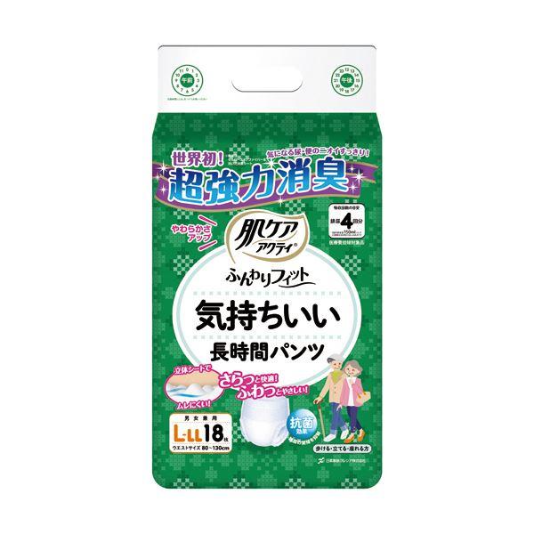 (まとめ)日本製紙 クレシア 肌ケアアクティふんわりフィット 気持ちいい長時間パンツ L-LL 1パック(18枚)【×5セット】