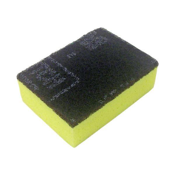 (まとめ)キクロン スポンジたわし キクロンC イエロー【×50セット】 黄