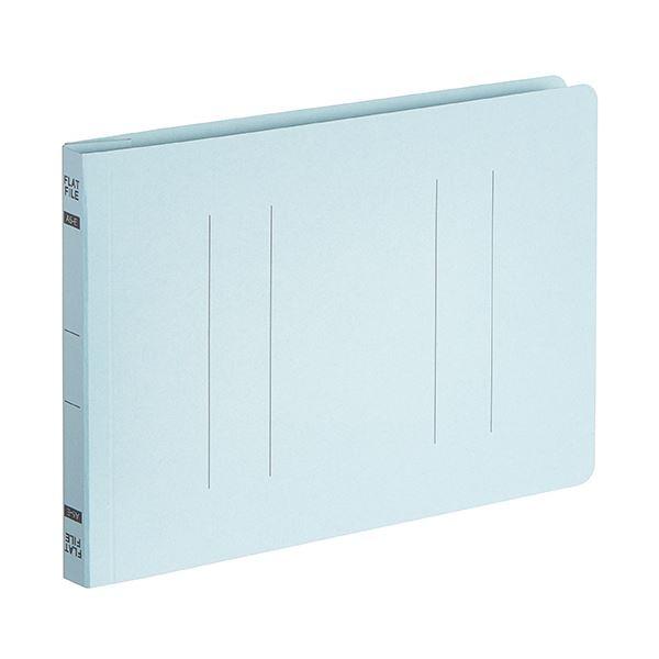 (まとめ) TANOSEEフラットファイルE(エコノミー) A5ヨコ 150枚収容 背幅18mm ブルー 1パック(10冊) 【×30セット】 青