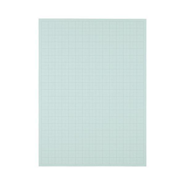 (まとめ) TANOSEE 模造紙(プルタイプ) 本体 788×1085mm 50mm方眼 ブルー 1ケース(20枚) 【×10セット】 青