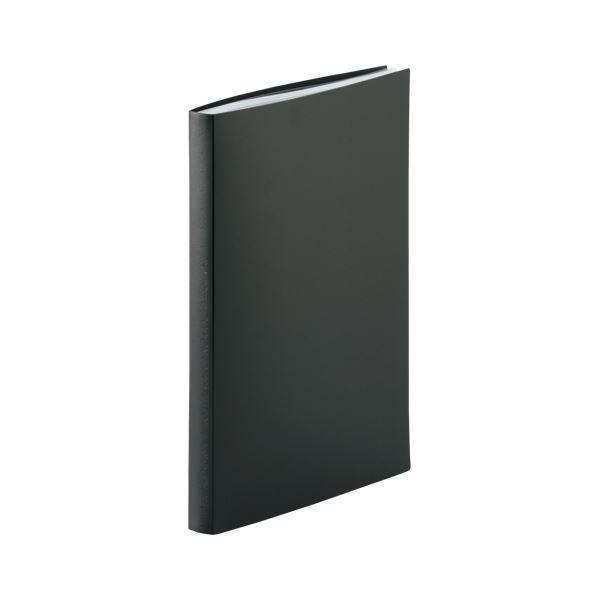 (まとめ) LIHIT LAB クリヤーブックA4 40枚ポケット 黒【×20セット】