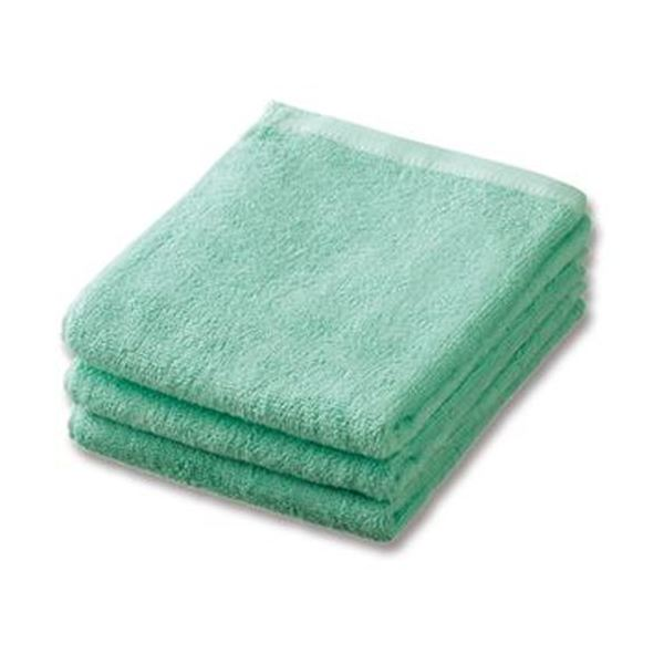 (まとめ)業務用スレンカラーフェイスタオルアイスグリーン 1パック(3枚)【×20セット】 緑