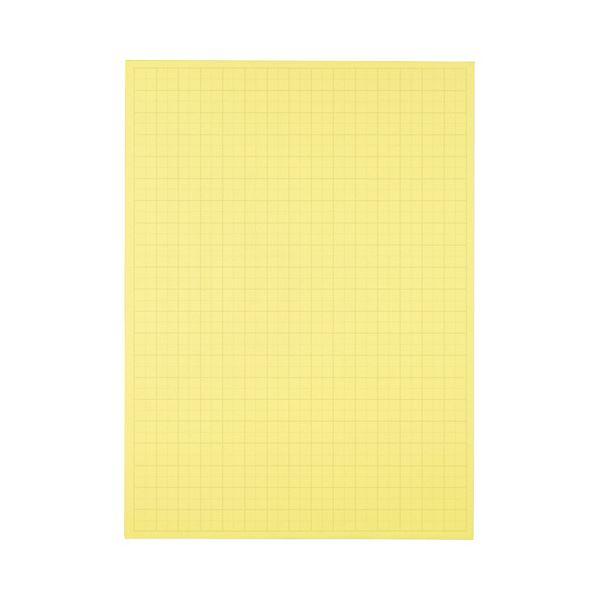 (まとめ) TANOSEE 模造紙(プルタイプ) 本体 788×1085mm 50mm方眼 クリーム 1ケース(20枚) 【×10セット】