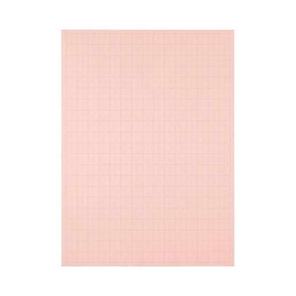 (まとめ) TANOSEE 模造紙(プルタイプ) 本体 788×1085mm 50mm方眼 ピンク 1ケース(20枚) 【×10セット】