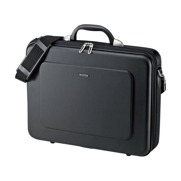 (まとめ) セミハードPC パソコン ケース15.6インチワイド対応 シングル ブラック BAG-EVA7BKN 1個【×3セット】 黒