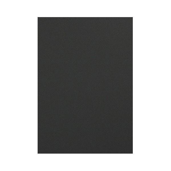 (まとめ) TANOSEE 色画用紙 四つ切こいくろ 1パック(10枚) 【×50セット】
