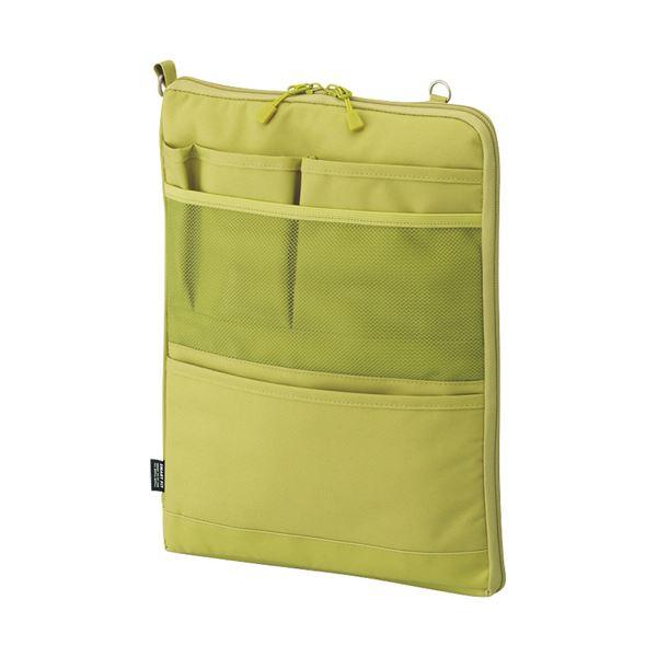 (まとめ)リヒトラブ SMART FITACTACT バッグインバッグ (タテ型) A4 イエローグリーン A-7683-6 1個【×3セット】 緑 黄