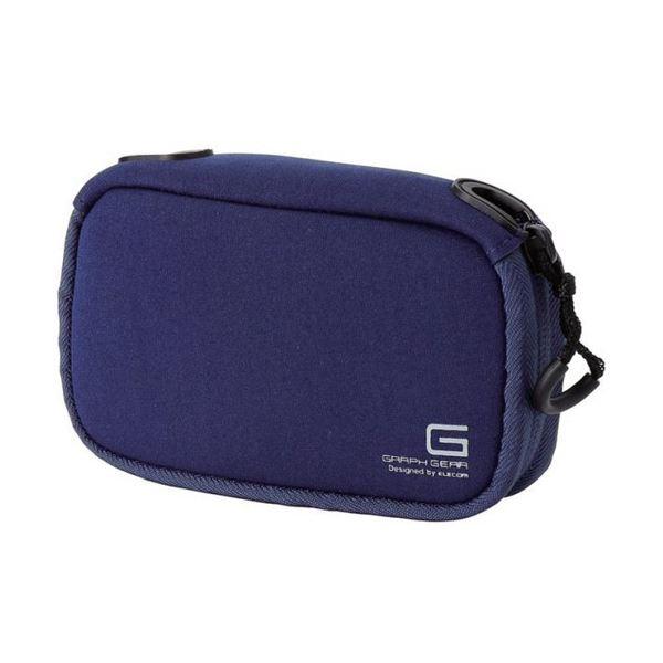 (まとめ) デジタルカメラケースGRAPH GEAR ソフトタイプ ブルー DGB-062BUD 1個 【×10セット】 青