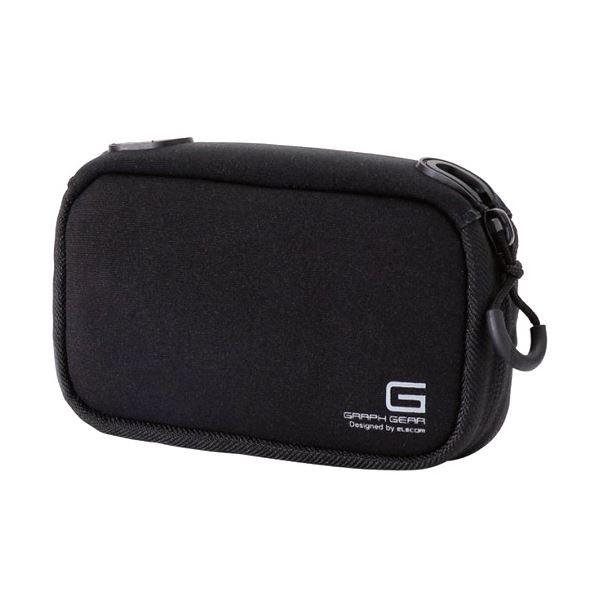 (まとめ) デジタルカメラケースGRAPH GEAR ソフトタイプ ブラック DGB-062BK 1個 【×10セット】 黒