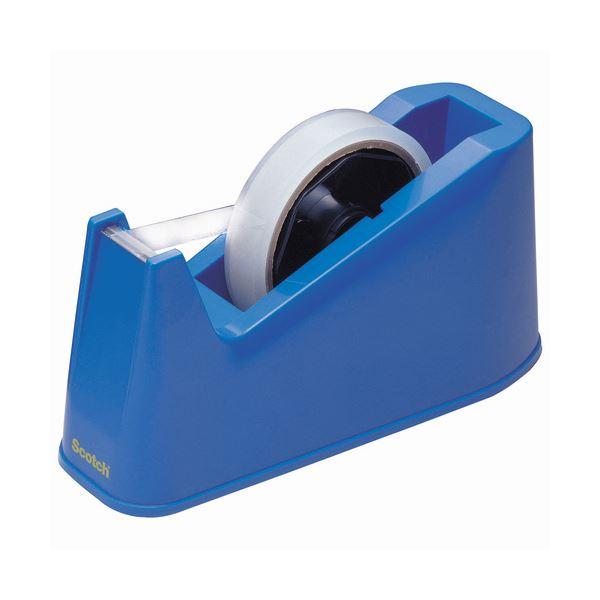 (まとめ) 3M スコッチ デスクディスペンサー ブルー C-3-J-BLUE 1台 【×30セット】 青