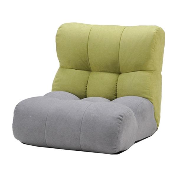 ソファ座椅子 (イス チェア) ピグレットJrノルディック1P GN/GRY 緑