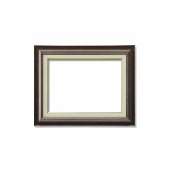 【油額】油絵額・キャンバス額・木製油絵額・茶色油絵額 ■M8号(455×273mm)ブラウン 茶