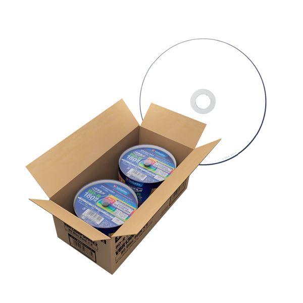 バーベイタム 録画用BD-R 130分1-6倍速 ホワイトワイドプリンタブル スピンドルケース VBR130RP50V4X21箱(100枚:50枚×2パック) 白