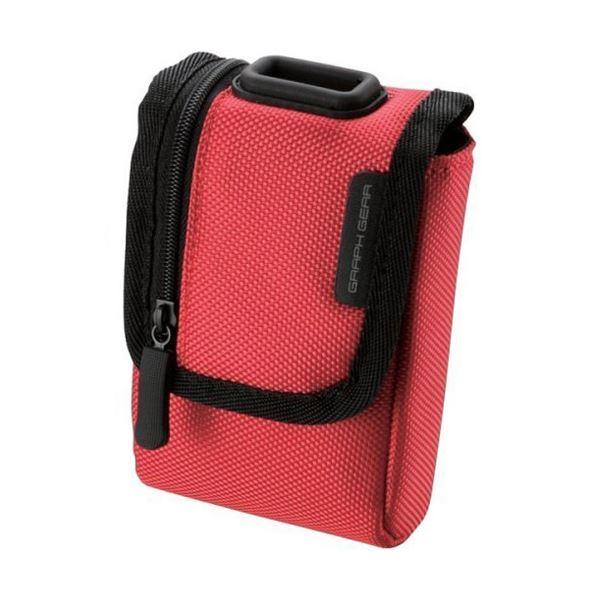(まとめ) 首ひも付デジタルカメラケース面ファスナータイプ Mサイズ レッド DGB-056RD 1個 【×10セット】 赤