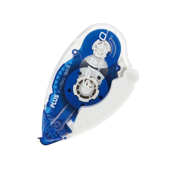 (まとめ) プラス テープのり スピンエコ 本体8.4mm×22m ブルー TG-610BC 1個 【×30セット】