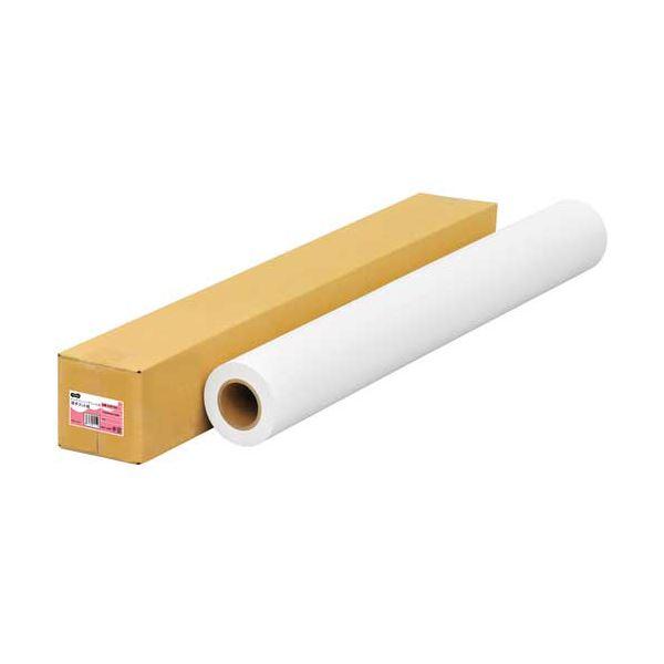 (まとめ)TANOSEEインクジェット用薄手マット紙 A0ロール 841mm×50m 1本【×2セット】