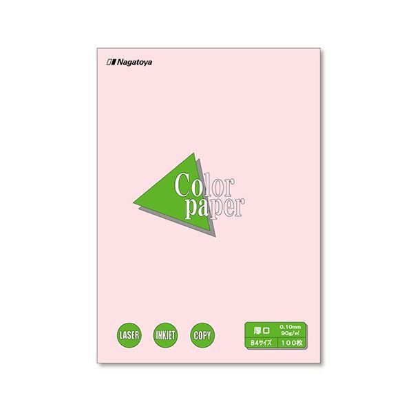 (まとめ) 長門屋商店 Color Paper B4 厚口 さくら ナ-2319 1冊(100枚) 【×10セット】