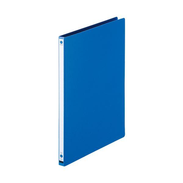 (まとめ) ライオン事務器 パームファイル 強化Z式A4タテ 120枚収容 背幅18mm 青 No.85-A4S 1冊 【×30セット】