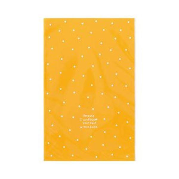 (まとめ)ヘッズ ドットOPPギフトバッグ Mオレンジ DT-O3 1パック(50枚)【×20セット】