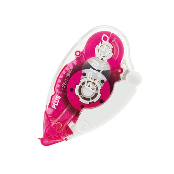(まとめ) プラス テープのり スピンエコ 本体8.4mm×22m ピンク TG-610BC 1個 【×30セット】