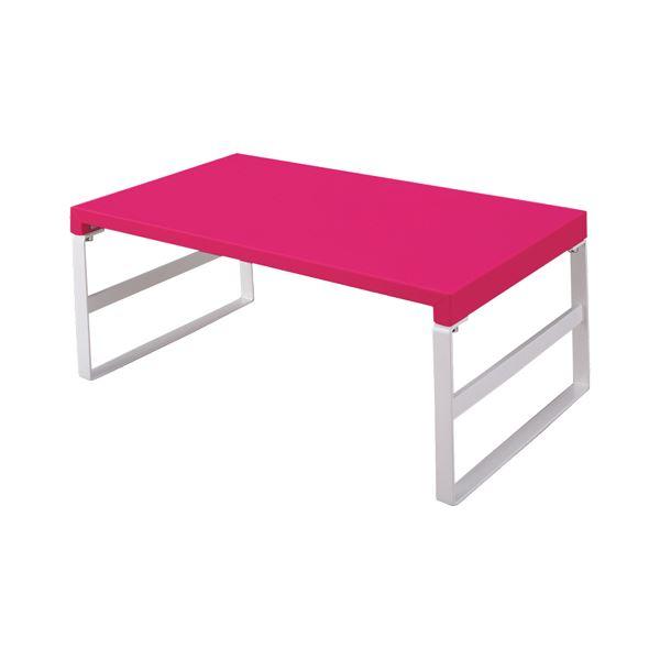 (まとめ) リヒトラブ 机 テーブル 上台 ハイタイプ 高い W390×D250×H160mm 赤 A-7331-3 1台 【×5セット】
