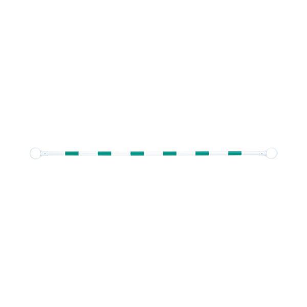 (まとめ) スマートバリュー コーンバー 緑/白 N164J-G/W【×10セット】